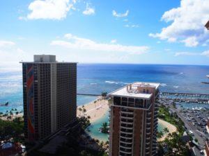 ハワイ高所からの風景