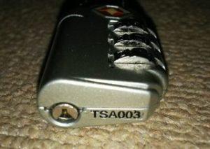 TSAロックの鍵穴